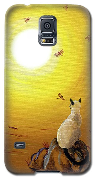 Siamese Cat With Red Dragonflies Galaxy S5 Case