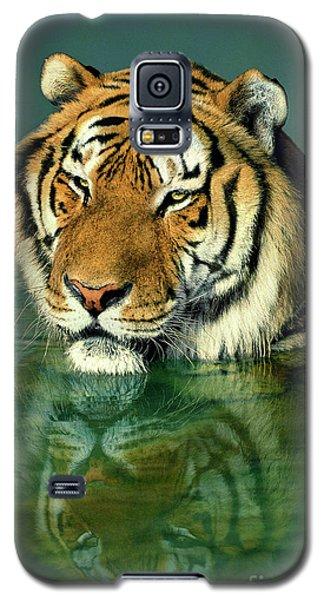 Siberian Tiger Reflection Wildlife Rescue Galaxy S5 Case