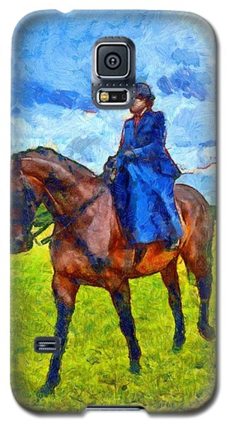 Galaxy S5 Case featuring the photograph Side Saddle by Scott Carruthers