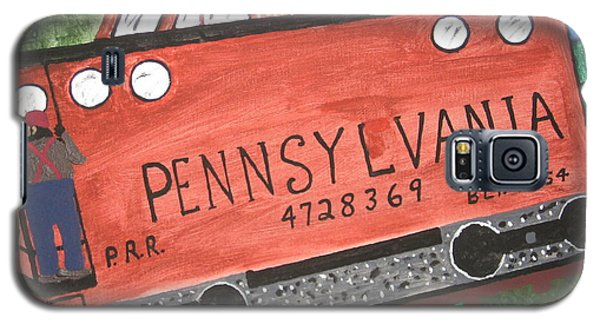 Galaxy S5 Case featuring the painting Side Tracked In Pa.  by Jeffrey Koss