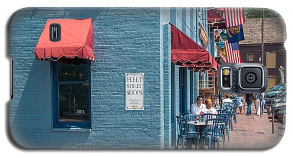 Galaxy S5 Case featuring the photograph Sidewalk Cafe Annapolis by Charles Kraus