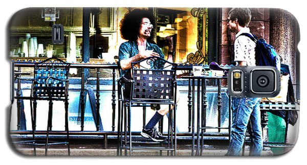 Sidewalk Cafe Patrons Galaxy S5 Case