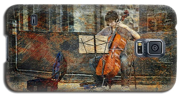 Sidewalk Cellist Galaxy S5 Case