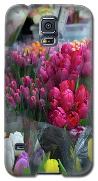 Galaxy S5 Case featuring the photograph Sidewalk Flowers by Lora Lee Chapman