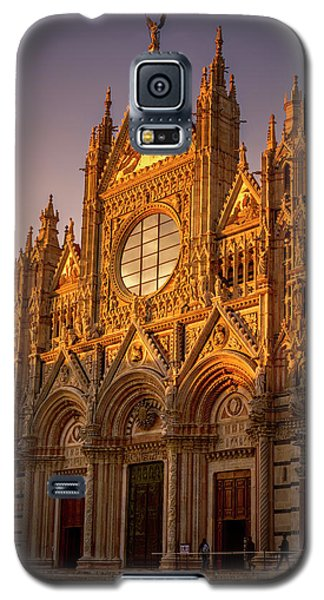 Galaxy S5 Case featuring the photograph Siena Italy Cathedral Sunset by Joan Carroll