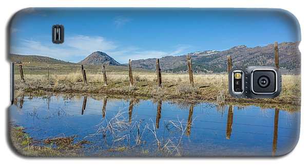 Galaxy S5 Case featuring the photograph Sierra Valley Spring Reflection by Scott McGuire