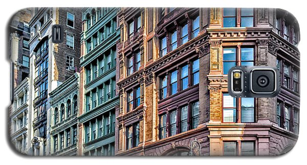 Galaxy S5 Case featuring the photograph Sights In New York City - Colorful Buildings by Walt Foegelle