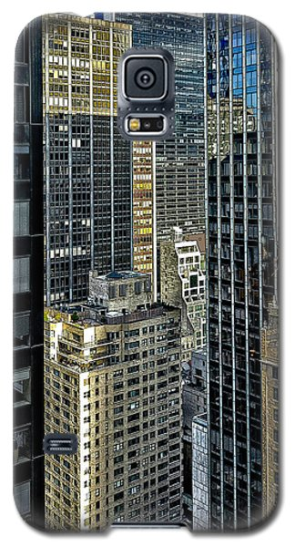 Galaxy S5 Case featuring the photograph Sights In New York City - Skyscrapers Shot From Skyscraper by Walt Foegelle