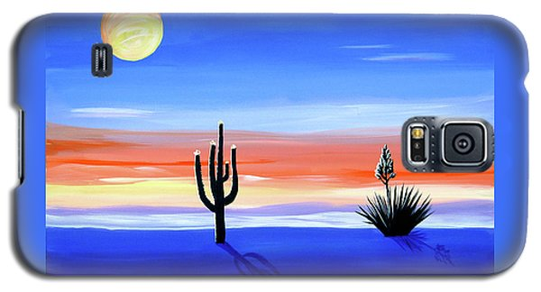 Galaxy S5 Case featuring the painting Silellnt Shadows by Phyllis Kaltenbach