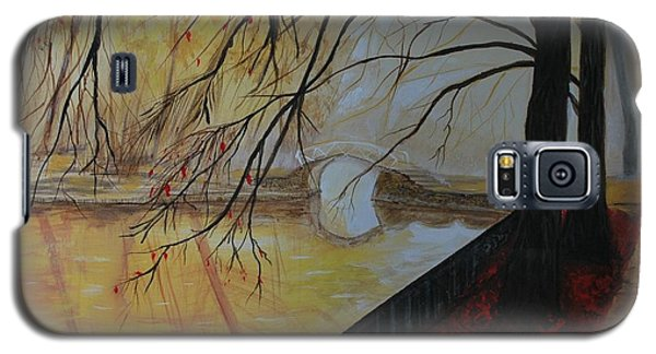 Galaxy S5 Case featuring the painting Silence by Leslie Allen