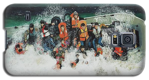 Galaxy S5 Case featuring the painting Silent Screams by Eric Kempson