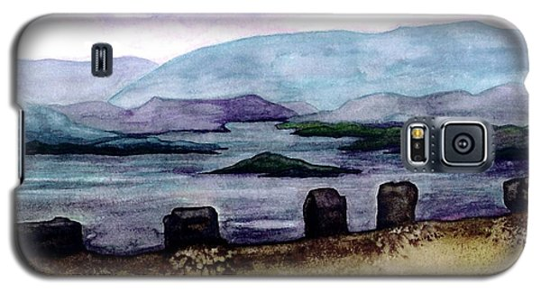 Galaxy S5 Case featuring the painting Silent Sentinels by Patricia Griffin Brett