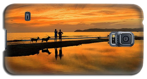 Silhouette And Amazing Sunset In Thassos Galaxy S5 Case