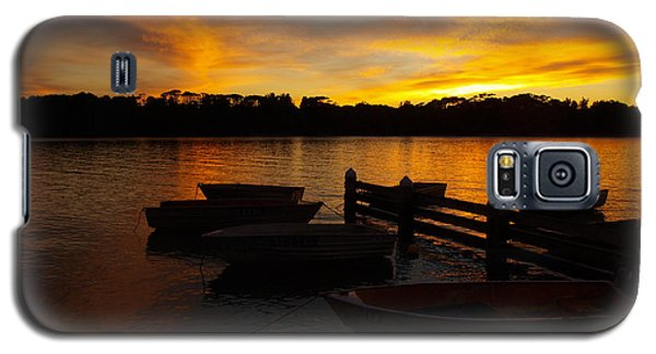 Silhouette Boats Galaxy S5 Case by Trena Mara