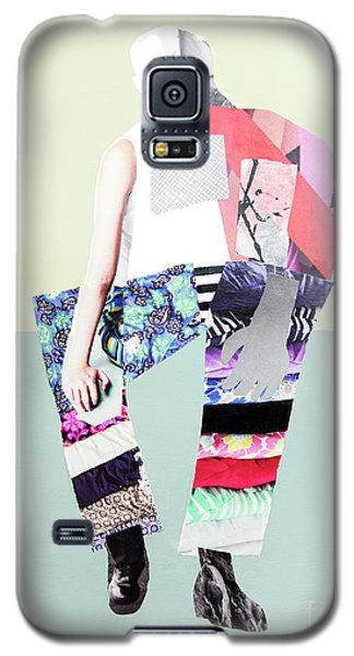 Galaxy S5 Case featuring the mixed media Silhouette by Elena Nosyreva