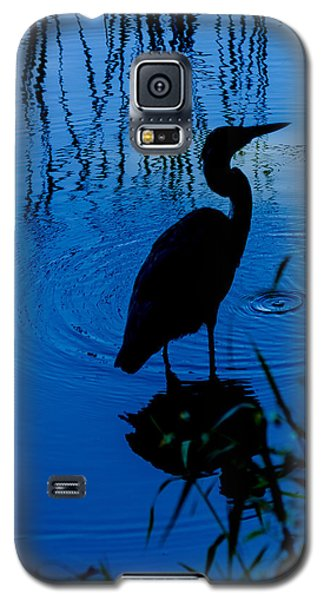 Silhouette In Blue Galaxy S5 Case