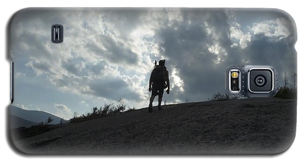 Silhouette Of A Hiker On Middle Sugarloaf Mountain - White Mountains New Hampshire Usa Galaxy S5 Case