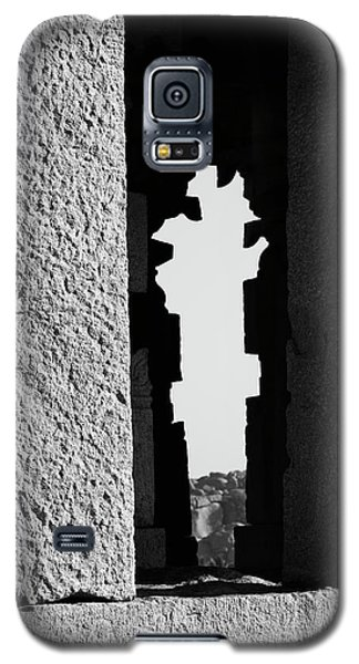 Galaxy S5 Case featuring the photograph Silhouette Of Pillars, Hampi, 2017 by Hitendra SINKAR