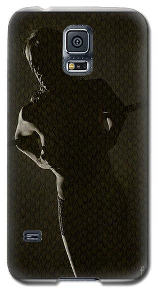 Galaxy S5 Case featuring the photograph Silhouette Of Topless Girl by Michael Edwards