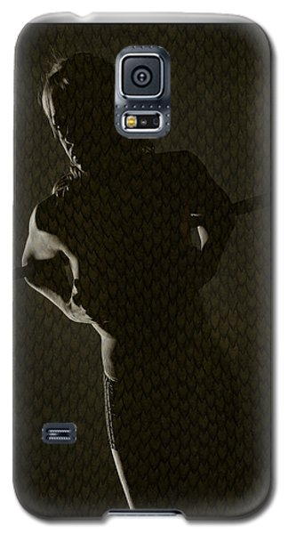 Silhouette Of Topless Girl Galaxy S5 Case by Michael Edwards