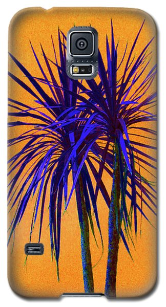 Galaxy S5 Case featuring the photograph Silhouette On Orange by Margaret Saheed