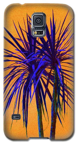 Silhouette On Orange Galaxy S5 Case