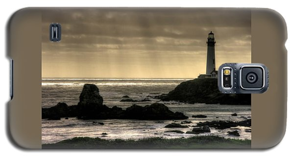 Silhouette Sentinel - Pigeon Point Lighthouse - Central California Coast Spring Galaxy S5 Case by Michael Mazaika
