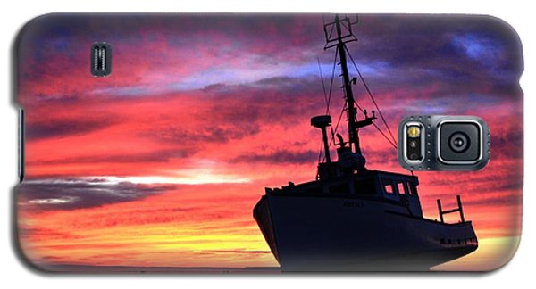 Silhouette Sunset Galaxy S5 Case