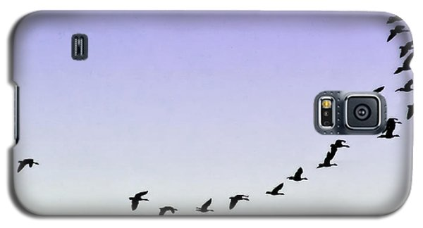Silhouetted Flight Galaxy S5 Case by Brian Wallace