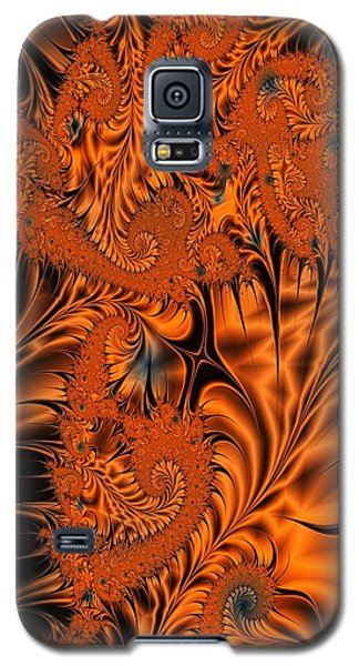 Silk In Orange Galaxy S5 Case