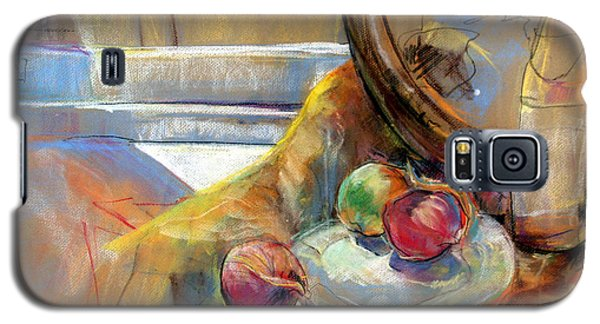 Sill Life With Onions Galaxy S5 Case by Daun Soden-Greene