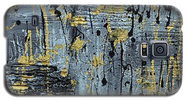 Galaxy S5 Case featuring the painting Silver And Gold  by Cathy Beharriell