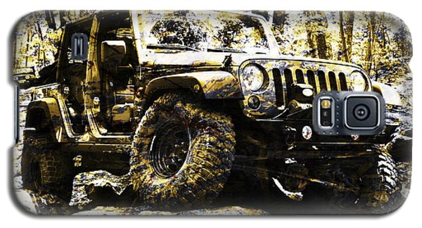 Silver And Gold Jeep Wrangler Jku Galaxy S5 Case