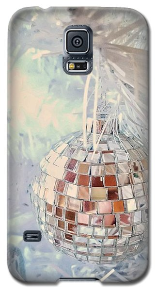Silver And White Christmas Galaxy S5 Case