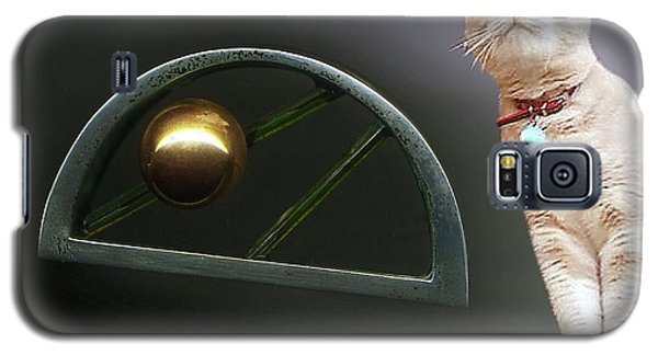 Galaxy S5 Case featuring the photograph Cat, Silver And Gold  Brooch by Hartmut Jager