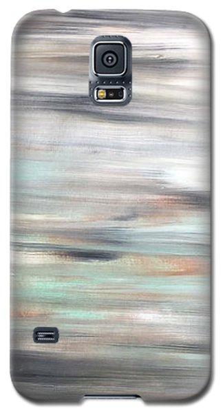 Silver Coast #25 Silver Teal Landscape Original Fine Art Acrylic On Canvas Galaxy S5 Case