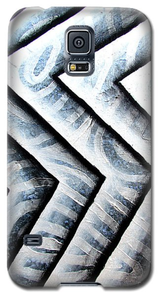 Silver Glass Waves Study 1  Galaxy S5 Case