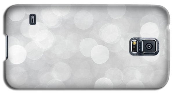 Silver Grey Bokeh Abstract Galaxy S5 Case by Peggy Collins