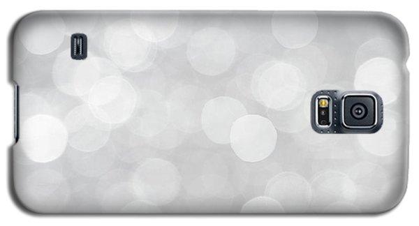 Silver Grey Bokeh Abstract Galaxy S5 Case