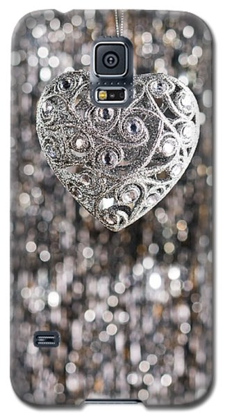 Galaxy S5 Case featuring the photograph Silver Heart by Ulrich Schade
