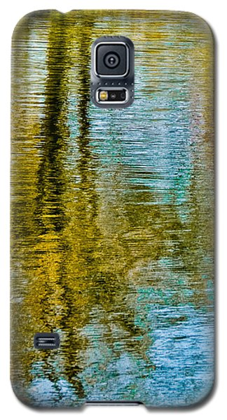 Silver Lake Autum Tree Reflections Galaxy S5 Case