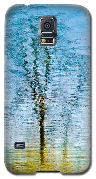 Silver Lake Tree Reflection Galaxy S5 Case