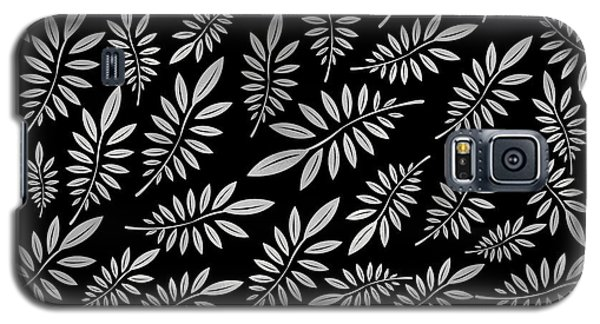 Silver Leaf Pattern 2 Galaxy S5 Case by Stanley Wong