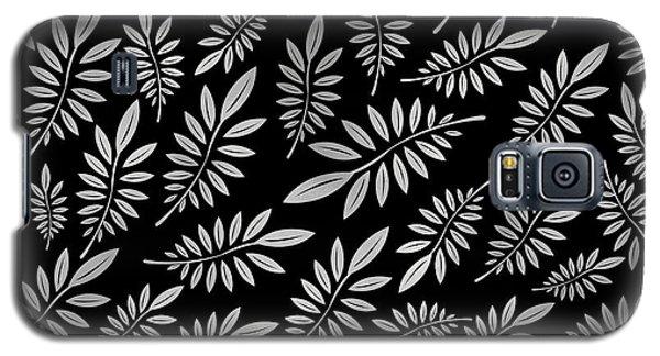 Beach Galaxy S5 Case - Silver Leaf Pattern 2 by Stanley Wong
