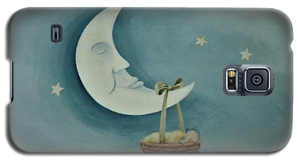 Silver Moon With Picnic Basket Galaxy S5 Case