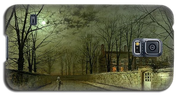 Silver Moonlight Galaxy S5 Case by John Atkinson Grimshaw