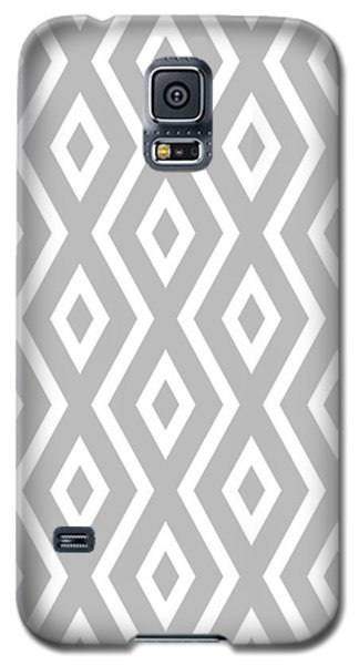 Galaxy S5 Case featuring the mixed media Silver Pattern by Christina Rollo