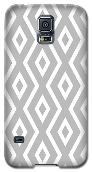 Silver Pattern Galaxy S5 Case by Christina Rollo