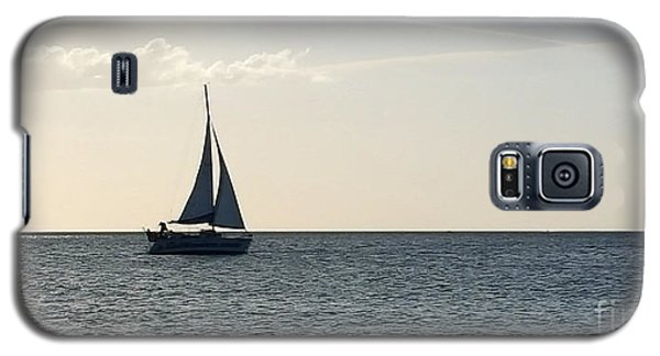 Silver Sailboat Galaxy S5 Case