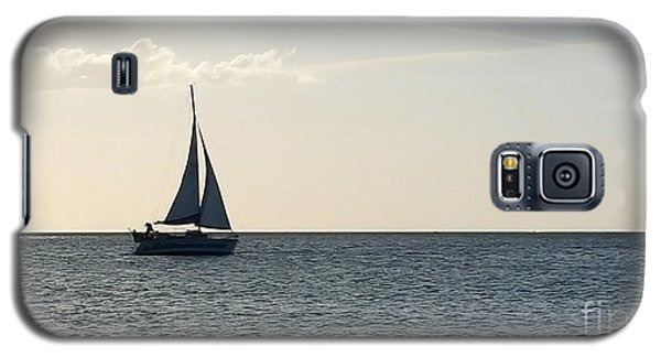 Galaxy S5 Case featuring the photograph Silver Sailboat by Jeanne Forsythe